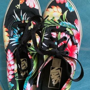 Shoes - Flowered VANS - BRAND NEW